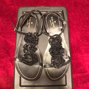 Kate Spade Black Leather Sandals size 9